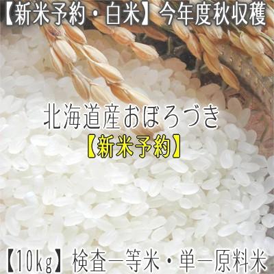 【新米 28年産 送料無料】北海道産 おぼろづき 10...