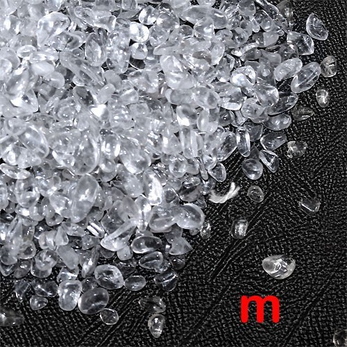 天然石 浄化研磨水晶さざれA 穴なしサザレ 100g...