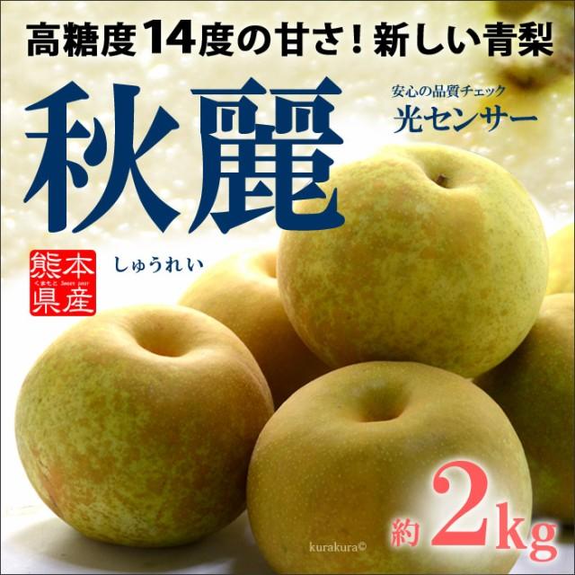秋麗梨(6玉前後/2kg)熊本産 青梨の新品種 高糖度...