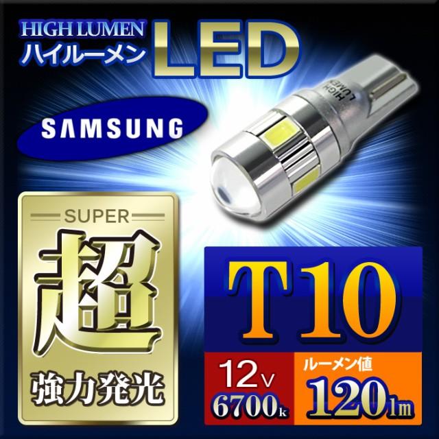 【T10】サムスン社製高輝度LEDチップ搭載!プロジ...