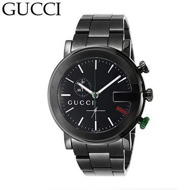 グッチ YA101331MSS-BLK クロノ  腕時計 GUCCI/ya...