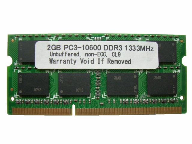 SODIMM 2GB PC3-10600 DDR3 1333 204pin CL9 PCメ...
