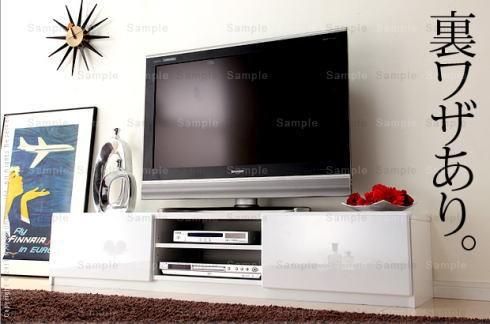 送料無料!背面収納TVボード 幅150cm ★コード類...