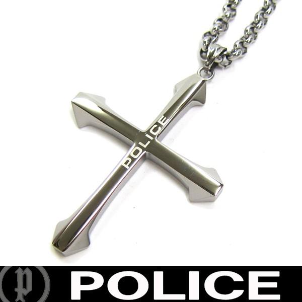 POLICE ポリス ネックレス クロス 十字架 ペンダ...