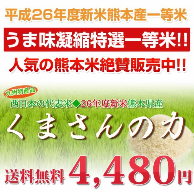 【送料無料】熊本のお米 「くまさんの力」 26年度...