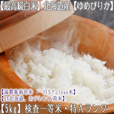 【白米 29年産 送料無料】北海道産 ゆめぴりか 5k...