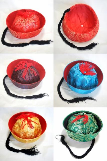 辮髪ツバ付き清朝チャイナ帽2