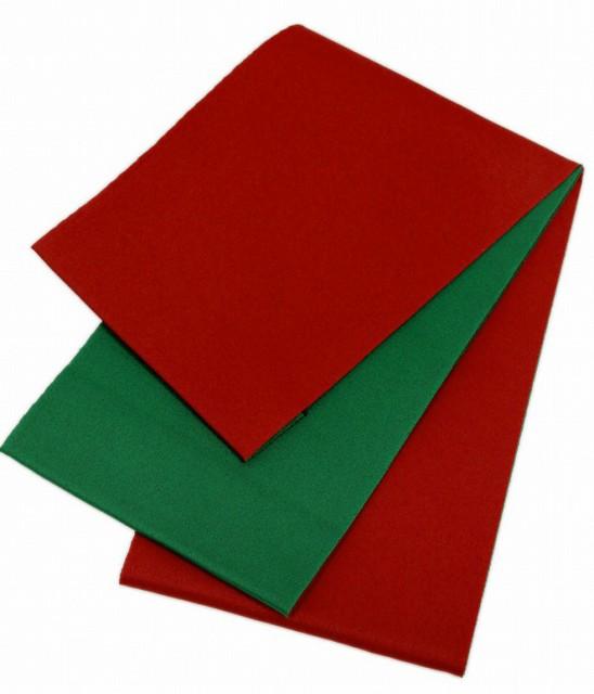 【日本製】シンプルリバーシブル 浴衣帯 赤×緑 1...