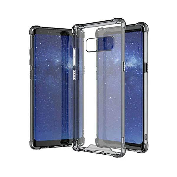 Galaxy Note 8 ケース ハード PC + ソフト TPU ク...