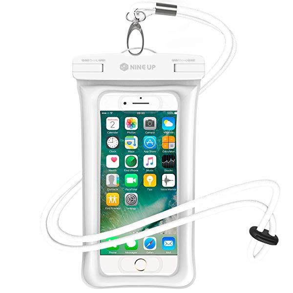 7a00560fcc 防水ケース NineUp 指紋認証対応 水に浮く スマホ用防水ポーチ アイフォン防水防塵