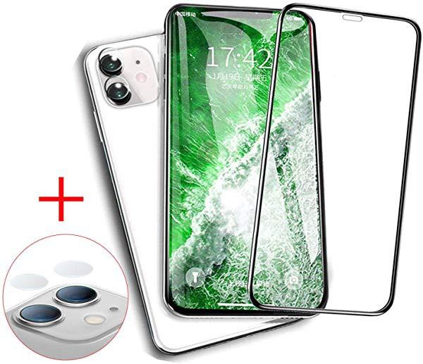 iPhone 11 ガラスフイルム + iphone 11 フィルム...