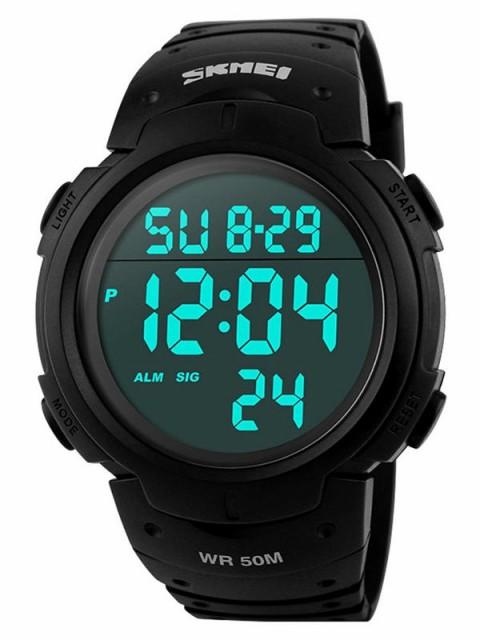 SKMEI 腕時計 メンズ 大きい文字盤 5気圧防水 デ...