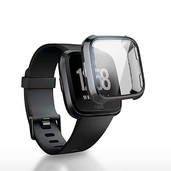 Fitbit Versa 2 カバー ケース 全面 保護 フィル...