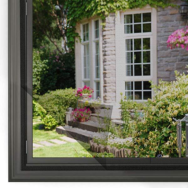 簡易網戸 張り替え 小窓用貼るだけ防虫網 簡単取...