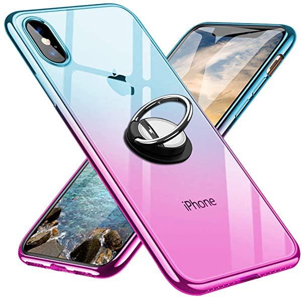 iPhoneX ケース iPhoneXs ケース スマホリング カ...