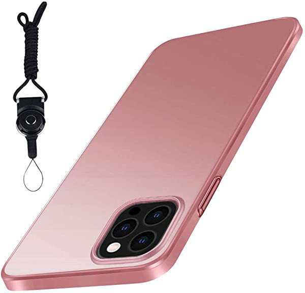 iPhone 12 Pro iPhone 12 用 ケース ローズゴール...