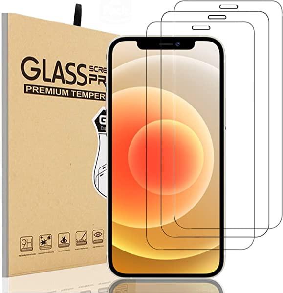iPhone12 iphone 12 pro ガラスフィルム 3枚セッ...