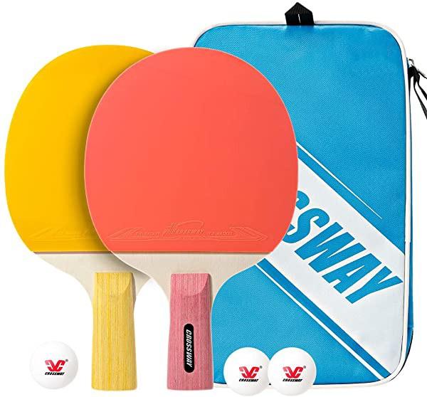 卓球ラケット ポータブル 卓球セットラケット2本 ...