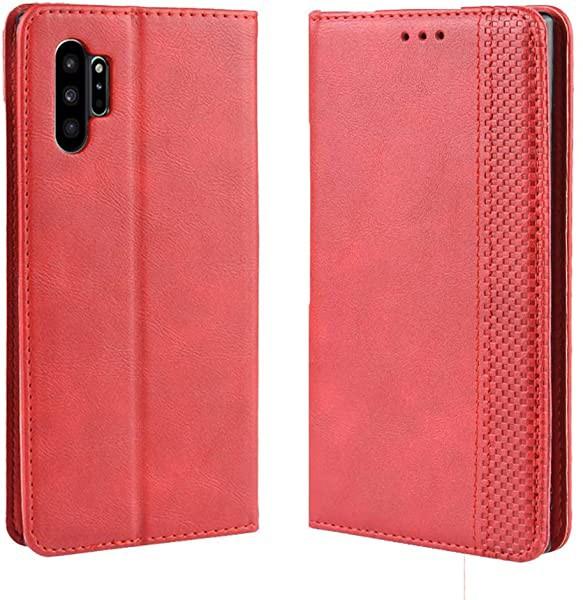Galaxy Note10 Plus ケース 手帳型 + 1枚強化ガラ...