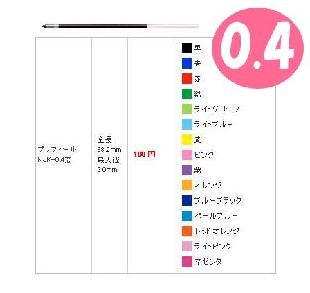 【メール便OK】★ジェルボールペン替芯/NJK-0.4芯...