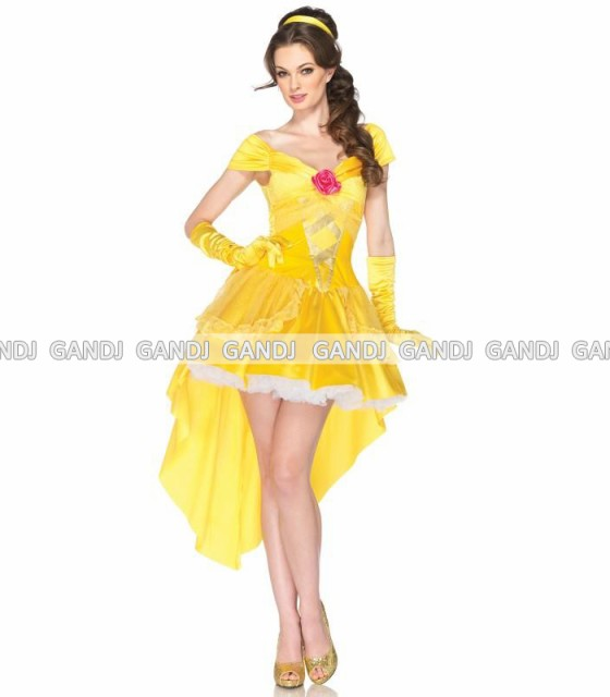 美女と野獣 ベル ゴールド プリンセス ドレス デ...