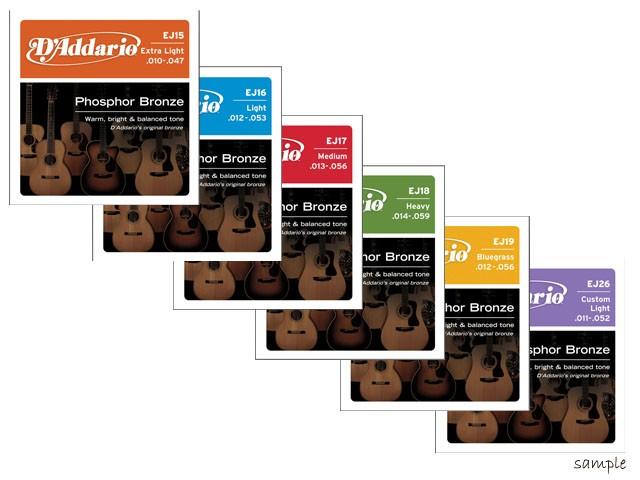 D'addario/アコースティック弦 Phosphor Bronze R...