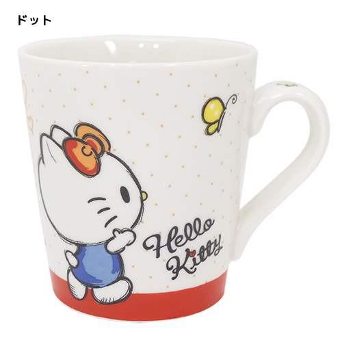 ◆ ハローキティ マグカップ、【ドット】マグカッ...
