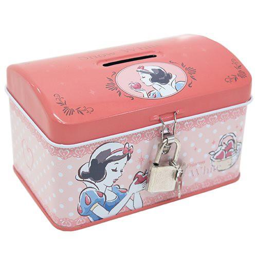 ◆白雪姫 鍵付き 缶バンク(ディズニー) おしゃ...