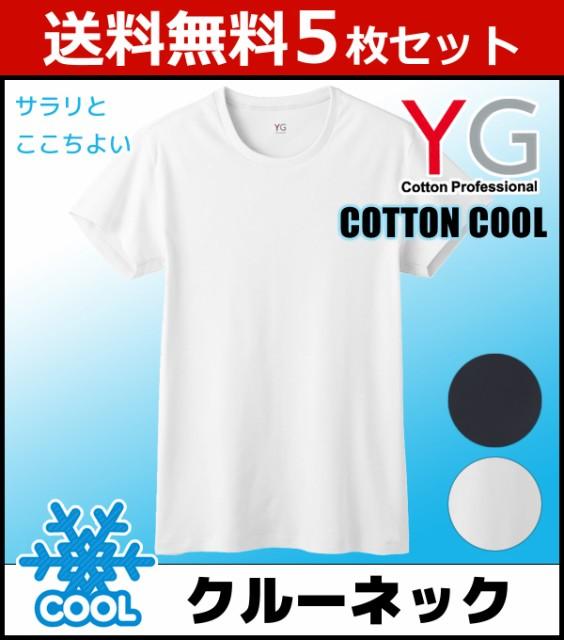 5枚セット YG クルーネックTシャツ グンゼ YV0313...