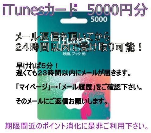 代引きOK! iTunes Card カード 5000円 Apple...