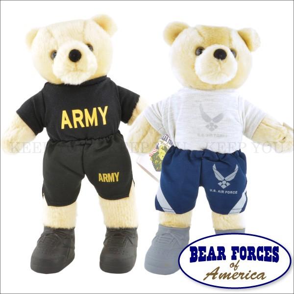 テディベア ARMY & AIR FORCE 約25cm 空軍 軍隊 ...