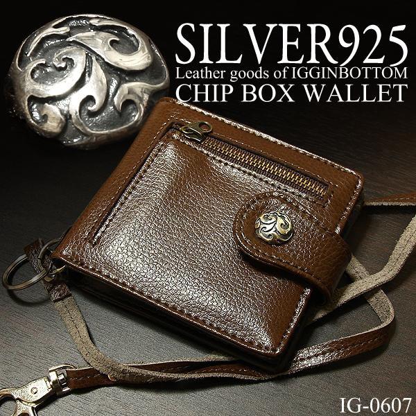 8b41fee42eb3 財布 IGGINBTTOM イギンボトム 本革 メンズ財布 ブランド 二つ折り財布 ブランド シルバー925 コンチョ 仕様