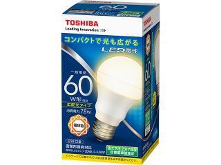 TOSHIBA LED電球一般電球形 60W形 広配光タイプ  ...