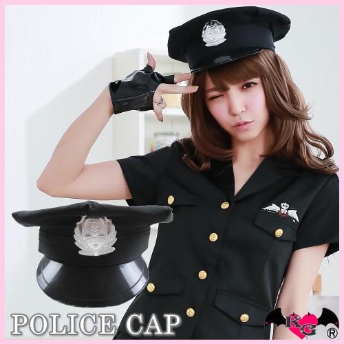 <キャップ・黒>ポリス☆帽子☆グッズ☆コスプレ...