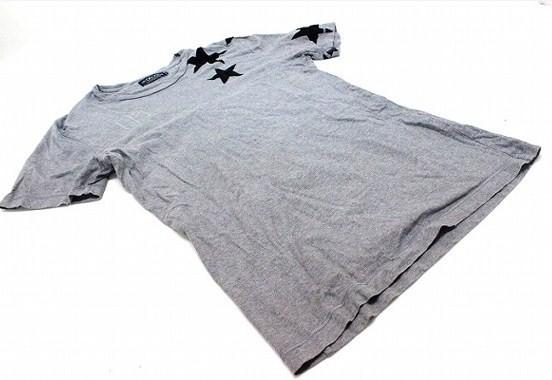 あす着 HYDROGEN ハイドロゲン メンズ スター 半袖Tシャツ M グレー ギフト プレゼント メンズ