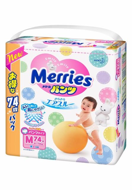 メリーズパンツ おむつ Mサイズ(6〜10kg) 74枚 パ...