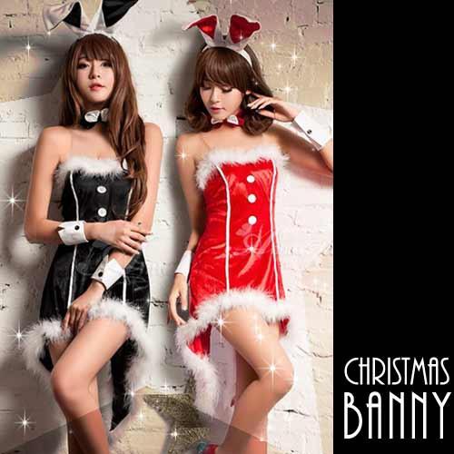 バニー サンタ コスプレ バニーガール クリスマス...