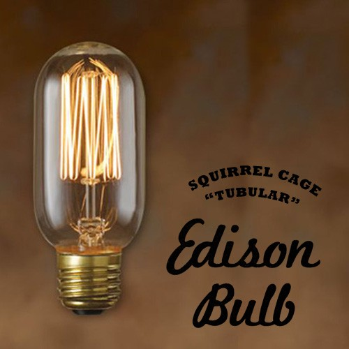 Edison Bulb Tubular (SQUIRREL CAGE) チューブラ...