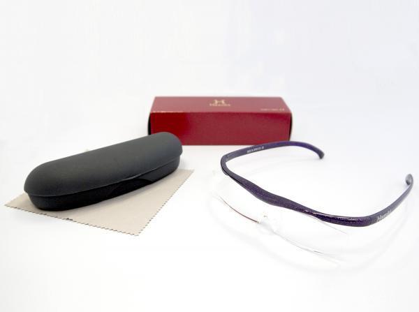 Hazuki ハズキルーペ 1.6倍 コンパクト 【選べる4種】 クリアレンズ (赤・紫・黒・白)  眼鏡式ルーペ