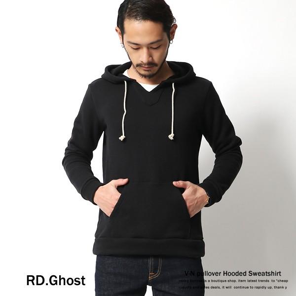 【RD.Ghost】日本製/国産Vネックプルオーバー裏毛...