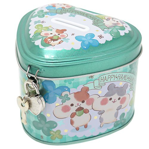 ◆HAPPY HAMU HAMU 鍵付き ハートフル缶バンク(...