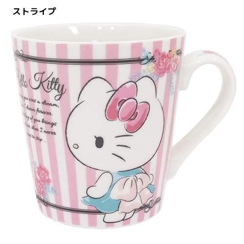 ◆ハローキティ マグカップ、ストライプ(マグカッ...