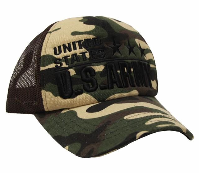 メッシュキャップ◆US.ARMY刺繍 帽子 メンズ