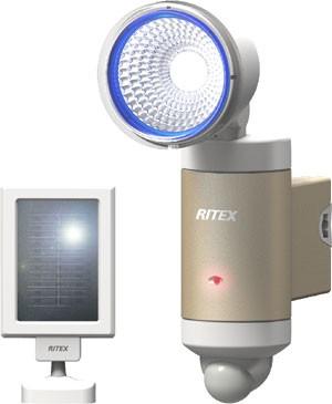ライテックス LEDセンサーライト屋外ソーラー 防...