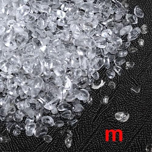 天然石 浄化研磨水晶さざれA 穴なしサザレ 500g...