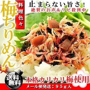 カリカリ梅と小魚のコラボ梅ちりめん 95g/