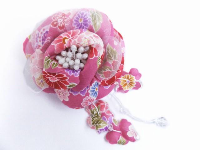 振袖成人式&卒業式袴・浴衣に 和柄帯飾りあずき...