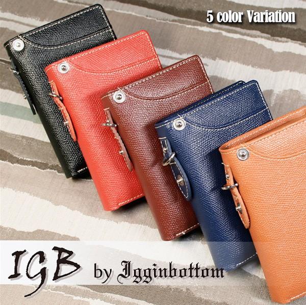 財布 メンズ 二つ折り 革 短財布 IGB-1300 ショー...