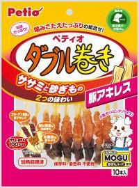 【ペティオ】ササミ+チキンガムMOGU ダブル...