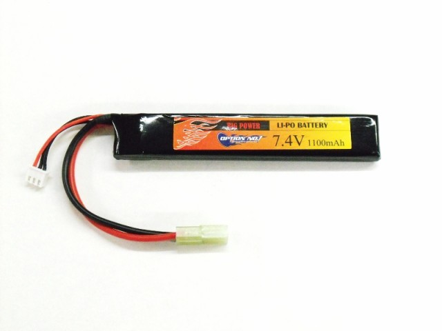 OPTION NO.1 BIG POWER LIPO 1100mAh 7.4V